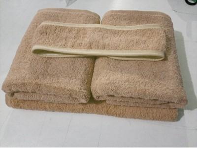 Toptan Kahverengi Havlu Seti - El Havlusu - Banyo Havlusu - Saç Bandı -
