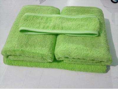 Toptan Yeşil Havlu Seti - El Havlusu - Banyo Havlusu - Saç Bandı -